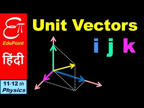 🔴 Rectangular Coordinate Unit Vectors (i, J, K) Notation || In Hindi