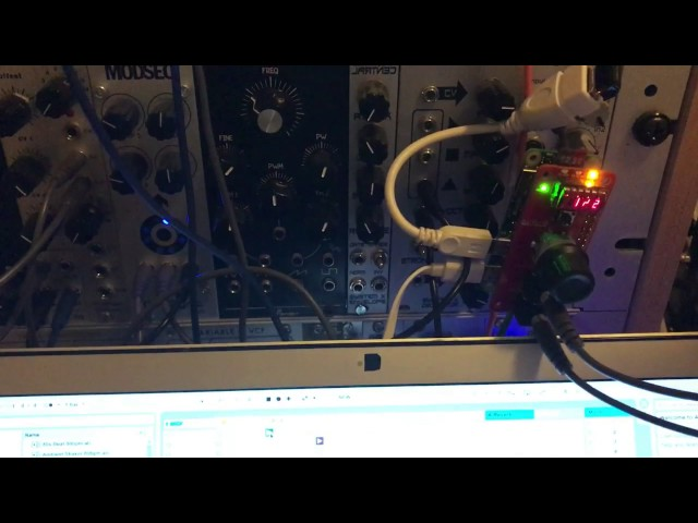 pink-0 Ableton Link to clock/reset hardware converter demo #2