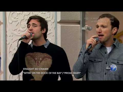 """A Capella Group, Straight No Chaser Performs """"Sittin' On The Dock Of The Bay""""/""""Proud Mary"""""""