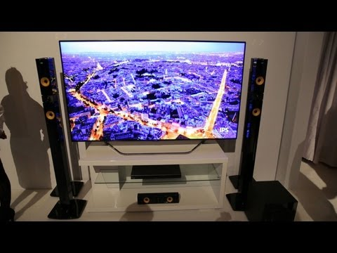 LG 4K and OLED TV First Impressions (CES 2013)