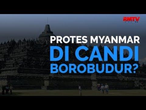 Protes Myanmar Di Candi Borobudur?