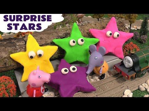 Peppa Pig Play Doh Surprise Toys Thomas and Friends Shopkins Frozen Mermaid Princess Sofia