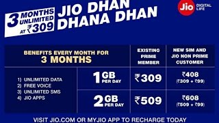 Good News For Jio Users Jio Dhan Dhnana Dhan Offer Launched 309 ,349, 509, 549 Agr aapko mera ye video pasnd aaya to like Share subscribe krna na bhule.....Follow me on Facebook-https://goo.gl/gT1Ew6Follow me on Twitter-https://goo.gl/FdtGjxFollow me on Instagram-https://goo.gl/vjq15pLIKE ◆ SHARE ◆ SUBSCRIBE