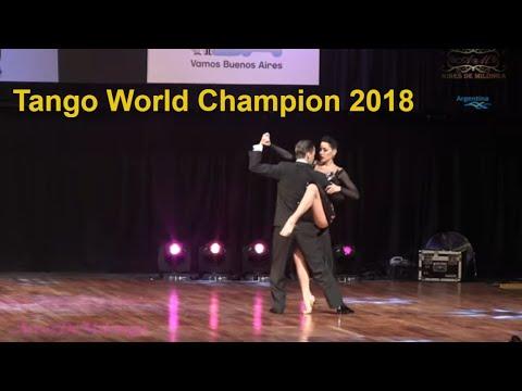Tango World champions Dmitry Vasin, Sagdiana Hamsina, puesto 1 final escenario Mundial de tango 2018