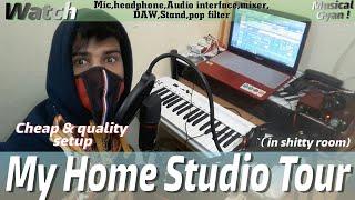 Video My Home studio tour|very cheap budget|all setup-headphone,audio interface,mic,popfilter,pc,stand,daw MP3, 3GP, MP4, WEBM, AVI, FLV Februari 2019