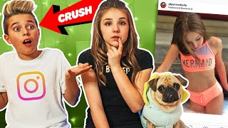 My Crush REACTS To Old INSTAGRAM PHOTOS **FUNNY** 📷 💕  Piper Rockelle