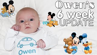 """Baby Owen is 6 weeks old!  In today's video, I give you an update on his health, his favorite things and his favorite place to sleep!  He is my first baby to be able to sleep all night in his own bed, which is pretty awesome!  Thanks for watching!  Don't forget to give us a THUMBS UP! Please subscribe to our channel & the kids' channels!http://bit.ly/FFPSubscribehttp://bit.ly/AlwaysAlyssaSubscribehttp://bit.ly/SubDudeItsDavidhttp://bit.ly/SubTwinTimehttp://bit.ly/SubMichaelsMPWant to send fan mail?  You can find our address in our """"about"""" section here on YouTube.Find pictures, updates, and more about Family Fun Pack: Facebook: http://bit.ly/FamilyFunFBTwitter: http://bit.ly/FamilyFunTwitterInstagram: http://bit.ly/FamilyFunIGMatt's Instagram: http://bit.ly/DaddyFunPackIGMatt's Twitter: http://bit.ly/DaddyFunPackAlyssa's Instagram: http://bit.ly/2dLKBE6David's Instagram: http://bit.ly/2dsNQAmZac's Instagram: http://bit.ly/2dL1JocChris' Instagram: http://bit.ly/2dL34vVMichael's Instagram: http://bit.ly/2cTen8zNew videos posted daily! Challenges, Epic Road Trips, Vlogs, Toys,  Clothes, Food, and lots of other fun things!  Family Fun Pack is a family of 6 kids: Alyssa, David, Zac & Chris, all born within 39 months of each other.  After those four, we had our precious son Michael and then our sweet new baby Owen!  Our motto is """"fun with the family, every day""""! We like to do videos with Play Doh, Costumes, Superheros, Hot Wheels, Surprise Eggs, holidays like Easter, Halloween & Christmas, we have fun birthday parties, we love indoor playgrounds and outdoor playgrounds, bounce houses, parks, water parks, Disneyland, Legoland, Legos, water toys, Thomas trains, play houses, forts, mess making, trying new foods, pranks, going crazy down the stairs, going to the beach, swimming, pools, Barbies, languages, sports, soccer, makeup, Alyssa loves Justice, horses, animals, and pretty much everything cool!  Be sure to watch our popular videos, such as 24 hours with 5 kids, kid size c"""
