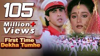 Video First Time Dekha Tumhe Hum  | 4K Video Songs | Jaan Tere Naam | Kumar Sanu | Ronit Roy MP3, 3GP, MP4, WEBM, AVI, FLV Oktober 2018