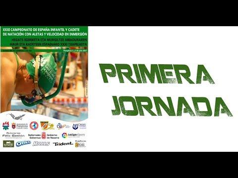 1. Jornada Cto. España Infantil y Cadete de Natación con Aletas y Velocidad en Inmersión