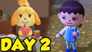 Animal Crossing New Horizons Gameplay Day 2 - LET'S GET ISABELLE! by Verlisify