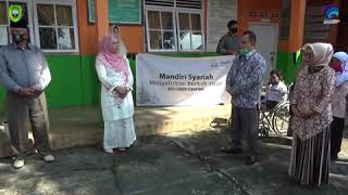 Mandiri Syariah Mengalirkan Berkah 2020 yang diterima langsung oleh Ibuk Hj. Suryani Nasution