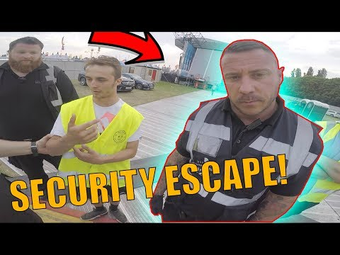 SNEAKING INTO FESTIVAL *ANGRY SECURITY ESCAPE* (видео)