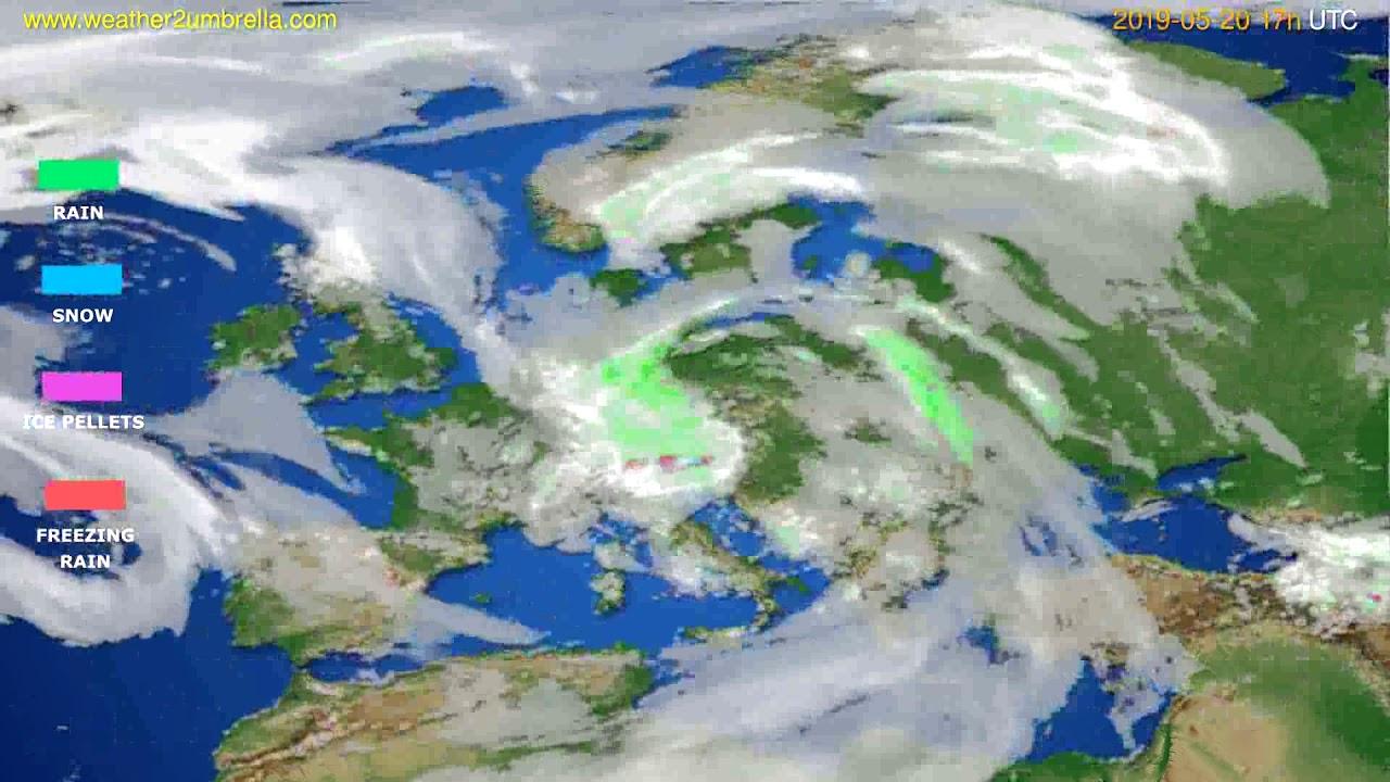 Precipitation forecast Europe // modelrun: 00h UTC 2019-05-19