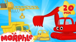 Download Video My Magic Living Construction Vehicles!  Morphle Excavator, Bulldozer, Dump Truck and Crane videos MP3 3GP MP4