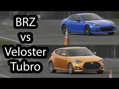 Subaru BRZ vs Hyundai Veloster Turbo Top Gear