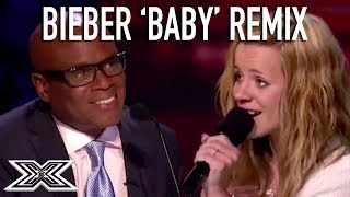 ▶︎Justin Bieber's 'BABY' Remix Gets The Judges Vote! ▶︎ Mega Bieber fan Drew Ryniewicz wins over the judges with her remix of Justin Bieber's 'Baby'.X Factor Global brings together the very best acts from around the world, keeping you up to date and ensuring that you never miss a thing! Subscribe to X Factor Global: https://www.youtube.com/user/xfactorglobalWatch more X Factor Global videos: https://www.youtube.com/user/xfactorglobal/videos
