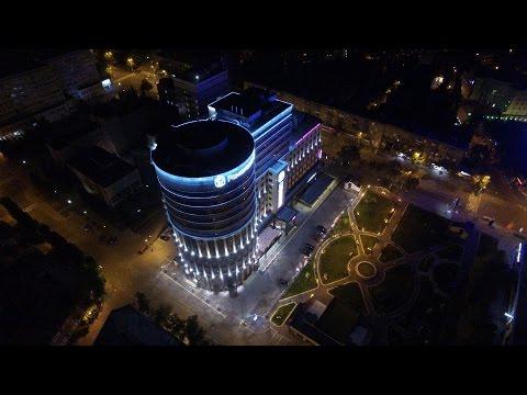 Ночной Воронеж с высоты птичьего полёта похож на роскошный европейский город (видео)