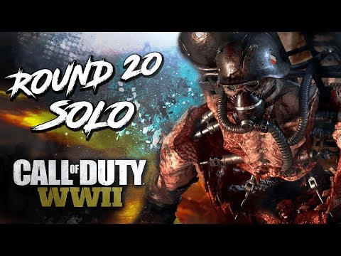 FIRST ROOM ROUND 20 - SOLO NO DOWNS [WW2 ZOMBIES] [MOUNTAINEER CHALLENGE] (видео)