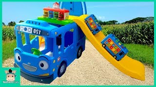 Video Tayo Bus Car toy videos for kids. Wheels On The Bus and Learn Colors Songs for baby | MariAndToys MP3, 3GP, MP4, WEBM, AVI, FLV Mei 2019