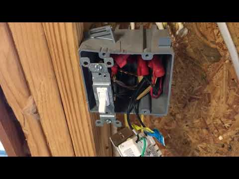 4 gang switch box installation for