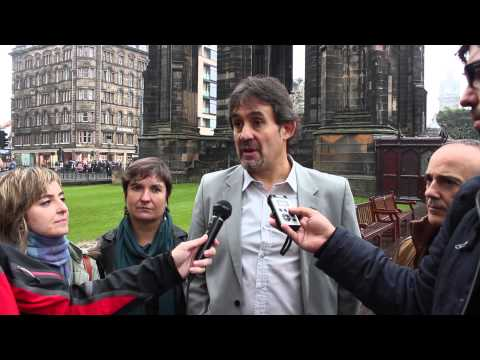 Pello Urizar hace una valoración del referendum desde Edimburgo