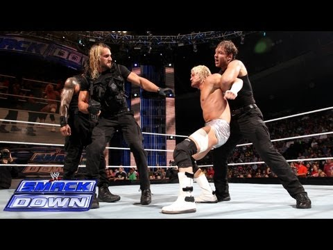 The Shield compete in an 11-on-3 Handicap Gauntlet Match: SmackDown, Sept. 20, 2013