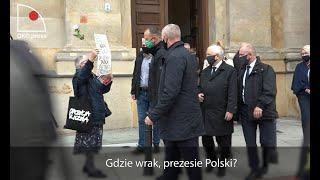 Prezes Polski Jarek i wkurzona Polska Babcia