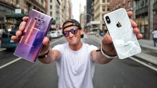 Video Galaxy Note 9 VS iPhone X - ULTIMATE VIDEO CAMERA COMPARISON MP3, 3GP, MP4, WEBM, AVI, FLV Februari 2019