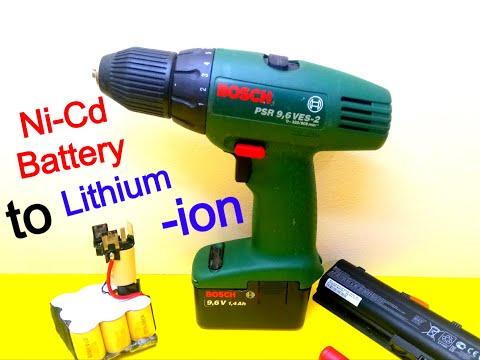 DIY BOSCH Ni-Cd Convert To Lithium Li-ion Battery Using18650 Cells