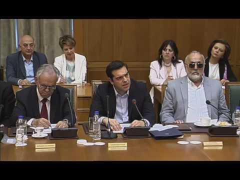 Ομιλία στο Υπουργικό Συμβούλιο με θέμα την αξιολόγηση της Συμφωνίας Ελλαδος-Θεσμών από το Eurogroup