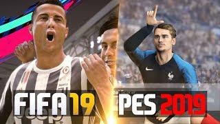 FIFA 19 vs PES 19 GOALS AND CELEBRATIONS
