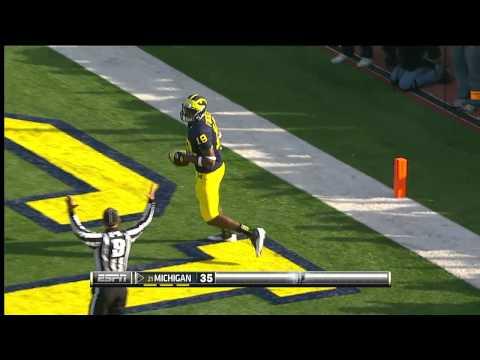 Devin Funchess 29-yard touchdown vs Iowa 2012 video.
