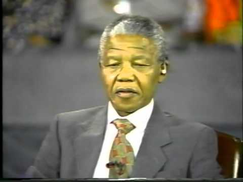 Nelson Mandela destroys Ted Koppel   Part 1
