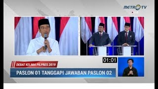 Video Momen-Momen Serangan Balik Jokowi ke Prabowo di Debat Kelima Pilpres 2019 MP3, 3GP, MP4, WEBM, AVI, FLV April 2019