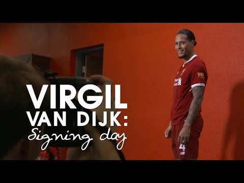 SIGNING DAY VLOG | Virgil Van Dijk's First Day At Liverpool - From The Airport To Anfield