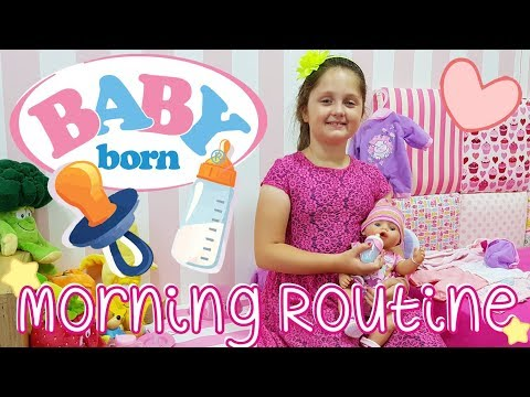 👶🏽 BABY BORN 🍼 MORNING ROUTINE - PIERWSZY 🌺 SPACEREK