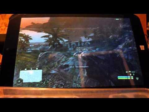 Tablet running Crysis (Winbook TW801, Atom Z3735 Gaming)