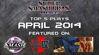 Best of Smash: Top 5 Super Smash Bros Melee Plays of April 2014