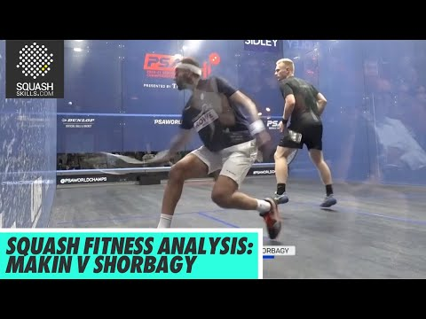 Squash Fitness Analysis: Joel Makin v Mohamed El Shorbagy