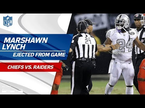 Marshawn Lynch Ejected for Unsportsmanlike Conduct w Official  Chiefs vs. Raiders  NFL Wk 7