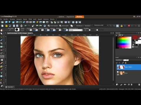 Come cambiare il colore dei capelli Corel Paint Shop Pro X 4