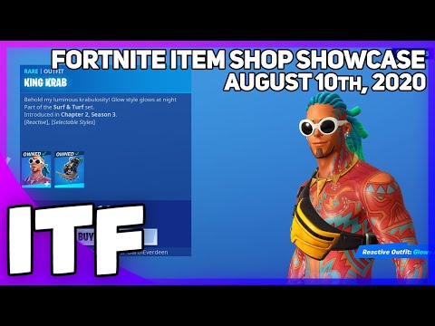 Fortnite Item Shop *NEW* KING KRAB SET! [August 10th, 2020] (Fortnite Battle Royale)