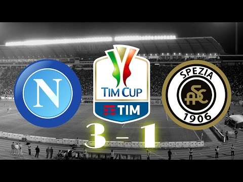 Napoli vs Spezia Calcio 3-1 _ All Goals & Extended Highlights - Coupe d'Italie 10/01/2017 HD