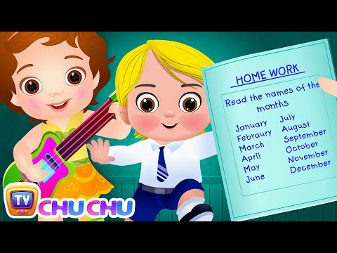 Months Of The Year Song (SINGLE) – January February Song - Original Kids Nursery Rhymes | ChuChu TV