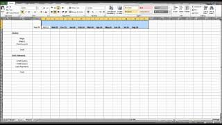 How to Create a Budget using Excel