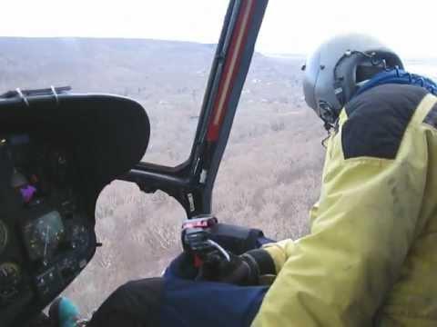 SA-332L1 cockpit.  Unedited video.