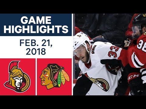 Video: NHL Game Highlights | Senators vs. Blackhawks - Feb. 21, 2018