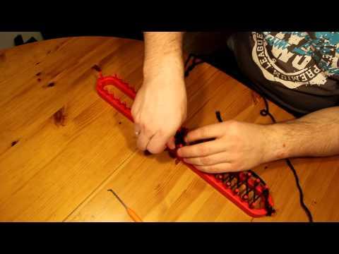 Schal mit Strickrahmen stricken Teil 01/07: Der Anfang