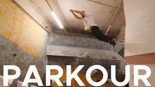 PARKOUR in deserted CLIMBING GYM! by Bouldering Bobat