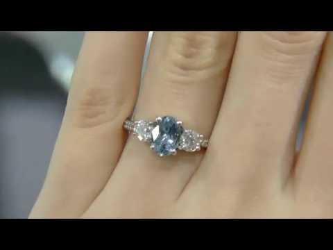 1.95ct Aquamarine and Diamond Ring GR008